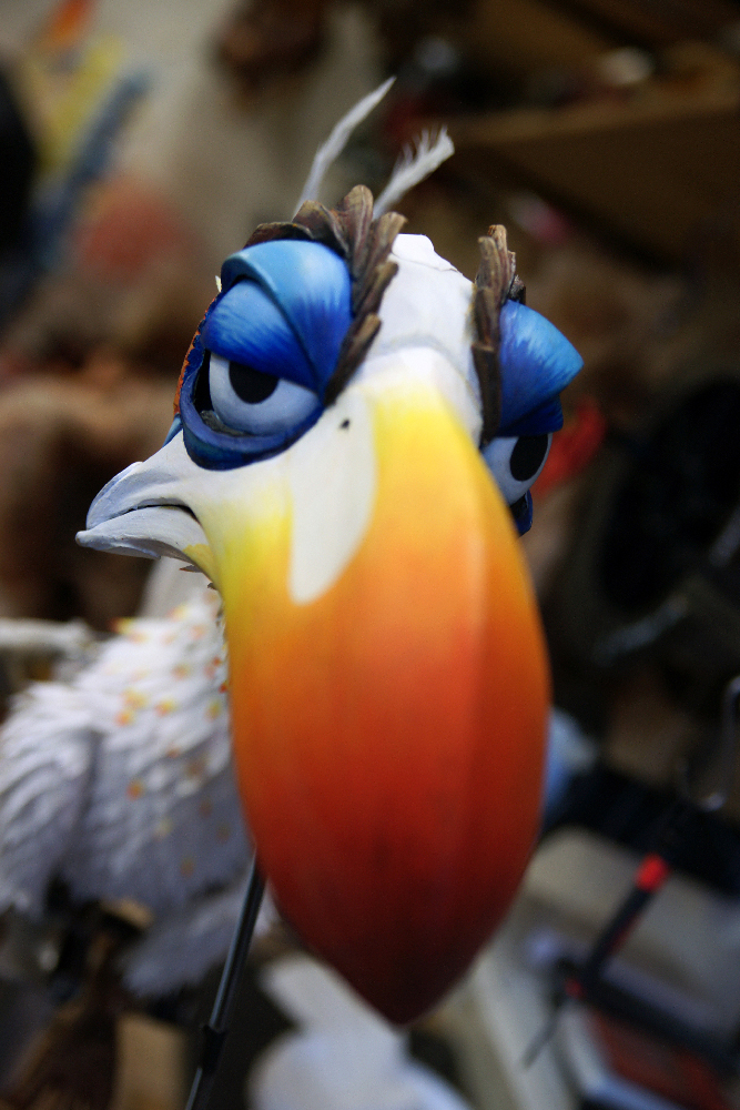 Kostbare Puppen: Allein Nashornvogel Zazu kostet 35.000 Euro